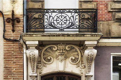 Photograph - Aquitaine Balcony And Architecture by Georgia Fowler
