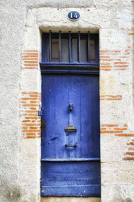 Aquitaine Blue Door 2 Art Print