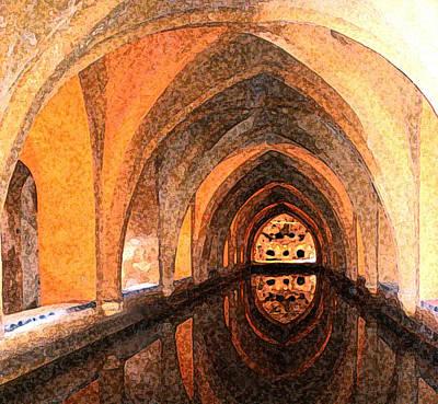 Bathe Digital Art - Arab Baths, Granada by Susan Fernandez