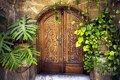 Photograph - Arab Door In Jaffa by John Rizzuto
