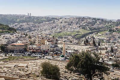 Photograph - Arab Israeli Neighborhood On The Outskirts Of Jerusalem by Alexandre Rotenberg