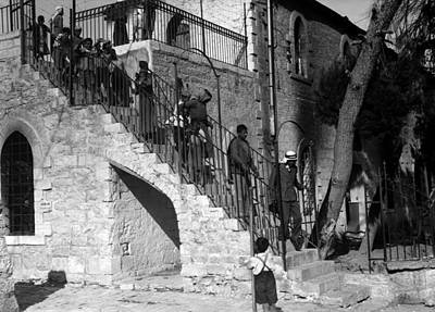Photograph - Arab Youths In Bethlehem 1938 by Munir Alawi