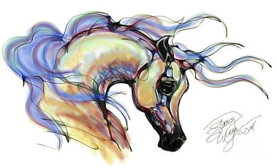 Digital Art - Arabian Mare by Stacey Mayer