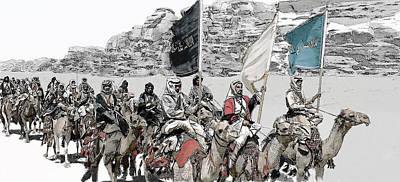 Digital Art - Arabian Cavalry by Kurt Ramschissel