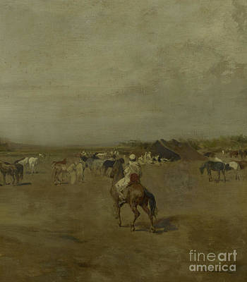 Encampment Painting - Arabian Encampment by Eugene Fromentin