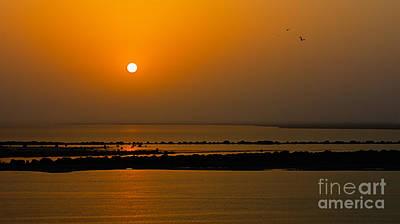 Photograph - Arabian Gulf Sunset by Peter Kennett
