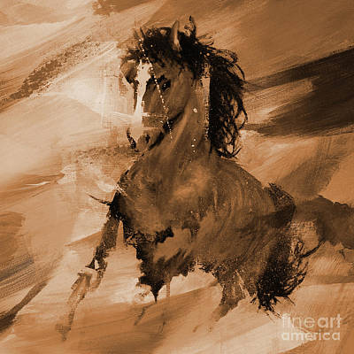 Painting - Arabian Horse 098 by Gull G