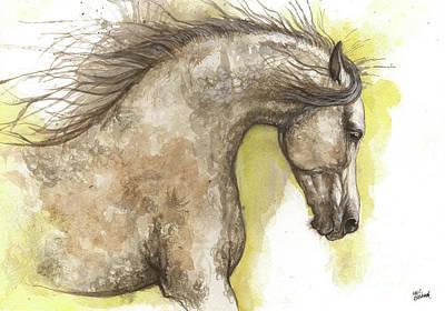 Painting - Arabian Horse 2017 07 24 by Angel Ciesniarska