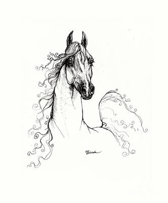 Fantasy Drawings - Arabian horse drawing 2009  xx by Angel Ciesniarska