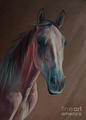 Suckling Painting - Arabian Horse Portrait 03 by Gull G