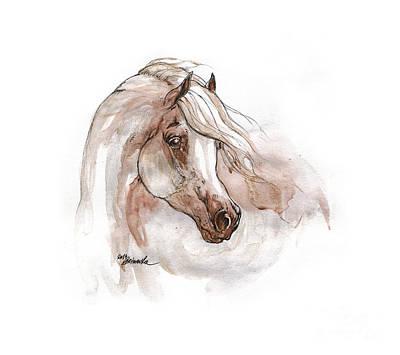 Arabian Horse Portrait 2015 09 04 Original by Angel Tarantella