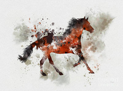 Arabian Mixed Media - Arabian Horse by Rebecca Jenkins