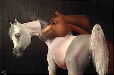 Painting - Arabian Horses by Rami Besancon