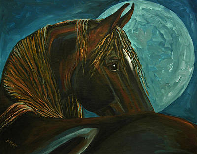 Painting - Arabian Moon by Suzanne McKee