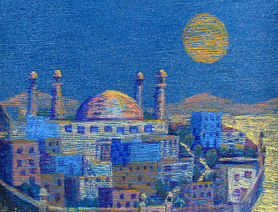 Pastel - Arabian Nights by Art Nomad Sandra  Hansen