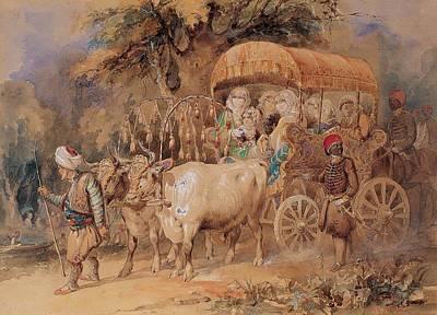 Amedeo Preziosi Painting - Arabian Ox Cart by Amedeo Preziosi