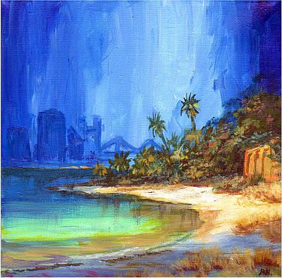 Four Seasons Tree Nature Summer Painting - Arabian Shore by Amani Al Hajeri