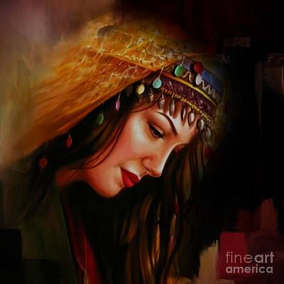 Arabian Woman 043b Art Print by Gull G