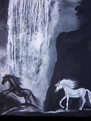 Painting - Arabians At Night by Aleta Parks
