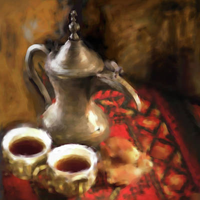 Painting - Arabic Coffee 680 1 by Mawra Tahreem