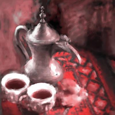 Painting - Arabic Coffee 680 2 by Mawra Tahreem