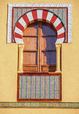 Painting - Arabic Window Of Spain by David Letts