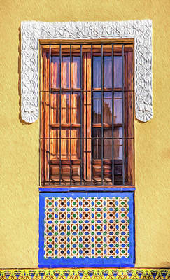 Italian Kitchen Painting - Arabic Window Of Spain II by David Letts