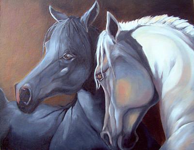 Horse Painting - Arabique by Enzie Shahmiri