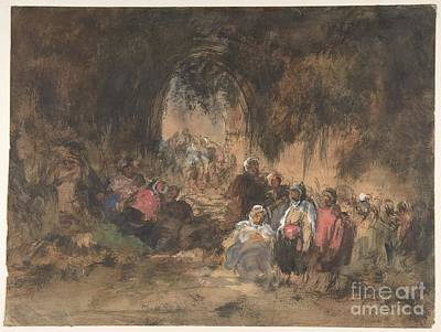 Painting - Arabs Resting by Celestial Images