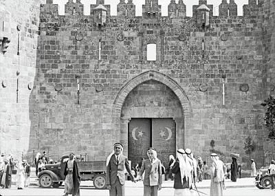 Photograph - Arabs Wearing Kafiyas In 1934 by Munir Alawi
