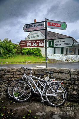 Photograph - Aran Island Bicycles by Craig J Satterlee