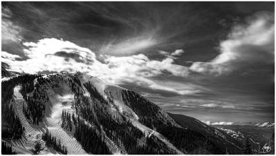 Photograph - Arapaho Basin Light Monochrome by Wayne King