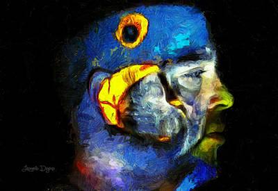 Raining Digital Art - Araraman - Da by Leonardo Digenio