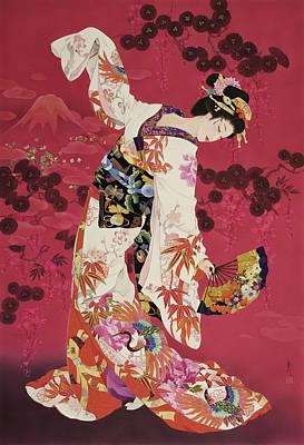 Purple Robe Painting - Aratama by Haruyo Morita