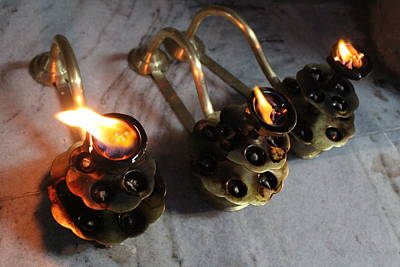 Photograph - Arati Lamps, Rishikesh by Jennifer Mazzucco