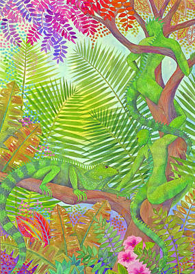 Painting - Arbai And Iguana by Jennifer Baird