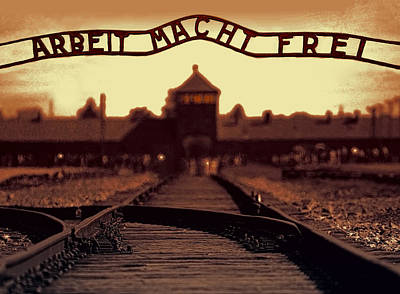 Concentration Mixed Media - Arbeit Macht Frei by Daniel Hagerman