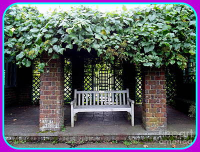 Photograph - Arbor Bench by Ed Weidman