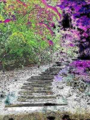 Digital Art - Arbor Pathway by Tim Allen