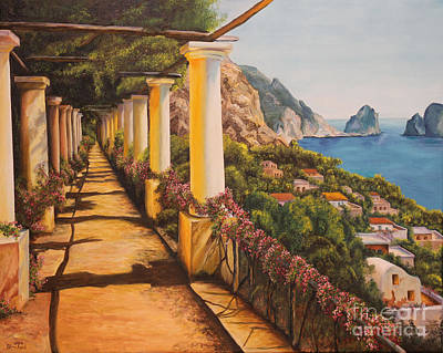 Painting - Arbor Walk In Capri by Charlotte Blanchard