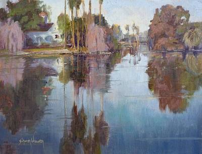 Painting - Arboretum Reflection by Sharon Weaver