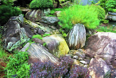 Photograph - Arboretum Rock Garden by Ginger Wakem