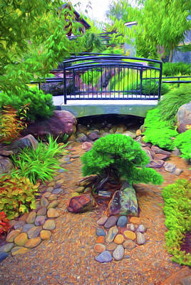 Photograph - Arboretum Stream Garden by Ginger Wakem