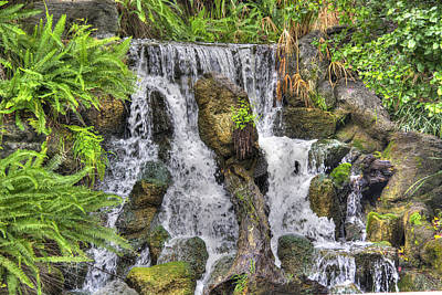 Photograph - Arboretum Waterfall 3 by Richard J Cassato