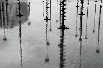 Photograph - Arbres Lumineux In The Rain Paris  by Helen Northcott