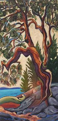 Painting - Arbutus by Natascha De la Court