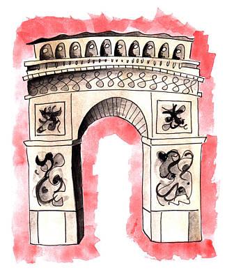 Painting - Arc De Triomphe by Anna Elkins