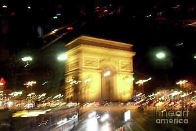 Arc De Triomphe Photograph - Arc De Triomphe By Bus Tour by Felipe Adan Lerma