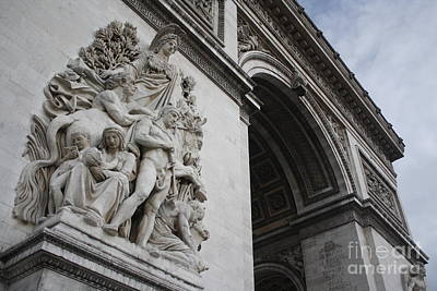 Photograph - Arc De Triomphe Close Up by Wilko Van de Kamp