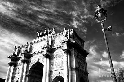 Arc De Triomphe Du Carrousel Wall Art - Photograph - Arc De Triomphe Du Carrousel Drama Paris by John Rizzuto
